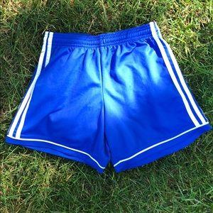 Royal blue Adidas short shorts